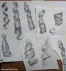 Studies of hair ringlets